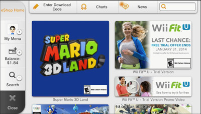 Super Mario 3D Land in Wii U eShop
