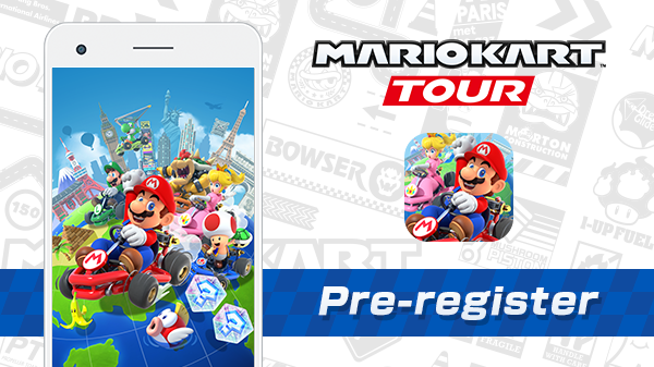 Mario Kart Tour pre-registration for the game release on Sept 25