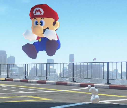 Mario taking a leap for February 29