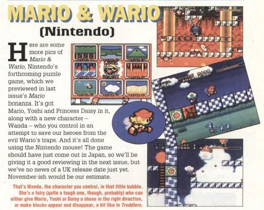 Mario & Wario - Super Play - October 1993