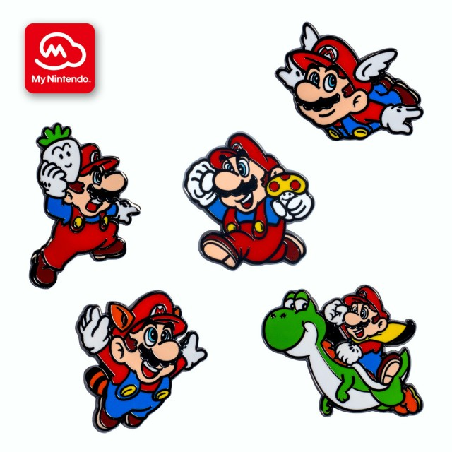 Super Mario Bros. 35th anniversary pin set