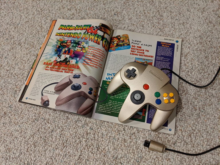 Gold N64 Controller with Nintendo Power