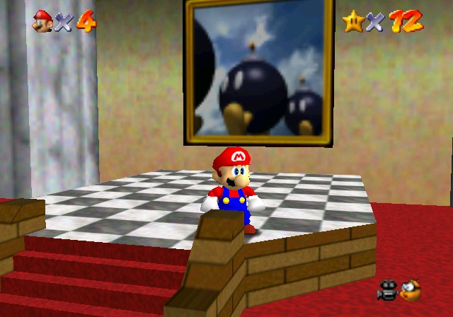 Super Mario 64 - Toad Explaining Warp Paintings