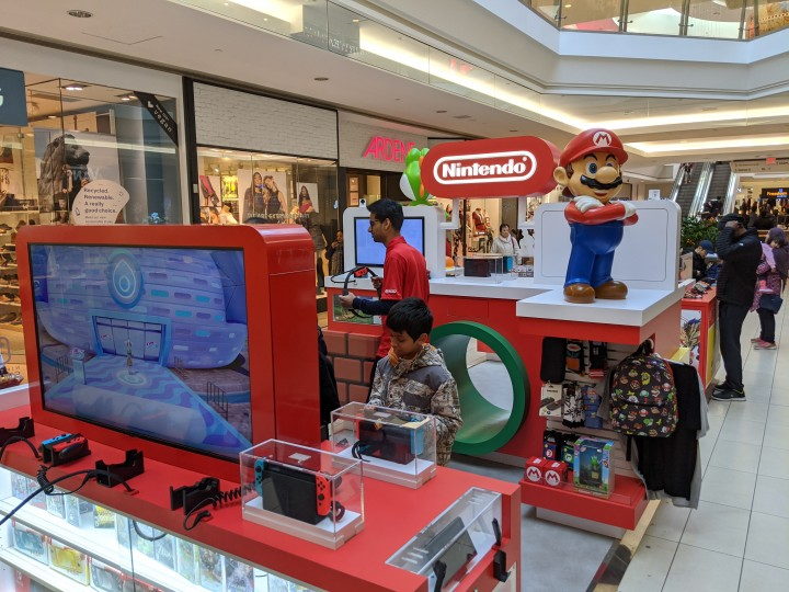 Nintendo Kiosk at Scarborough Town Centre in Toronto