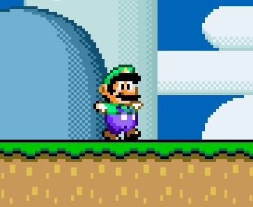 Super Mario World - Luigi in 16 bit glory