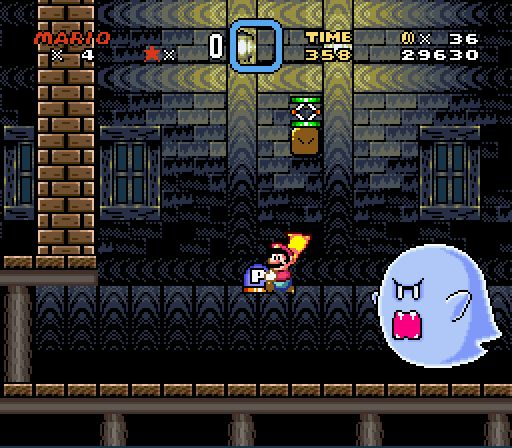 Super Mario World Ghost House with Big Boo