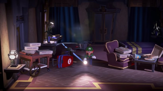 Teaser for Luigi's Mansion 3 with Mario suitcase