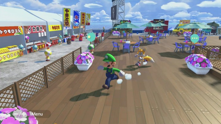 Food trucks in Mario and Sonic Tokyo 2020