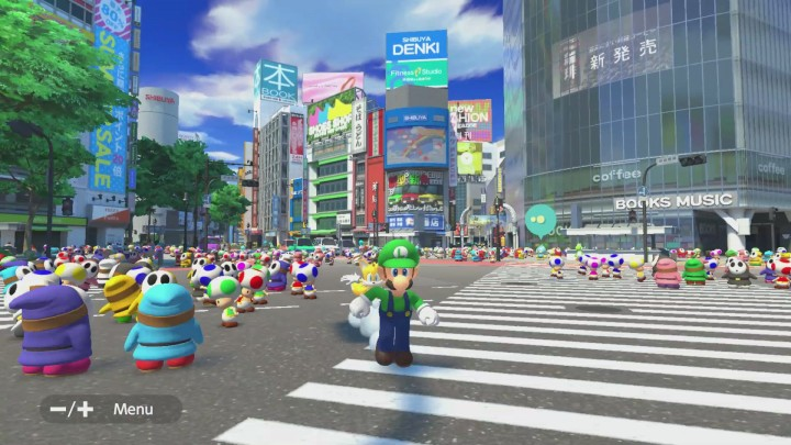 Shibuya Crossing in Mario and Sonic Tokyo 2020