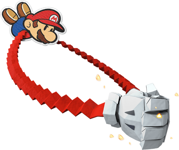 Mario's new 1000-fold arms ability in Paper Mario: The Origami King