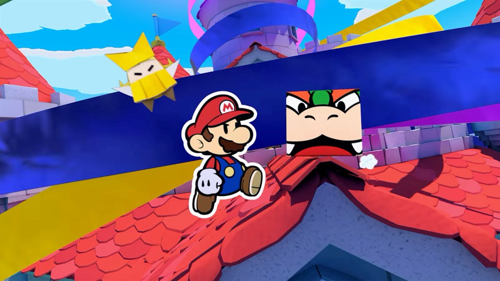 Paper Mario: The Origami King - Bowser in a cube for some reason
