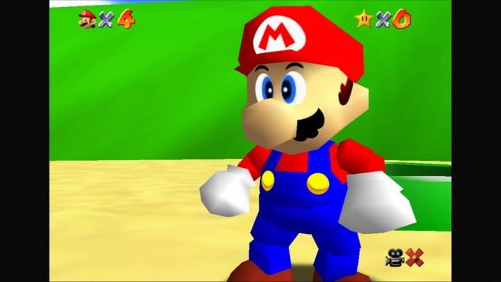 Super Mario 64 - Super Mario 3D All Stars Improved HUD textures