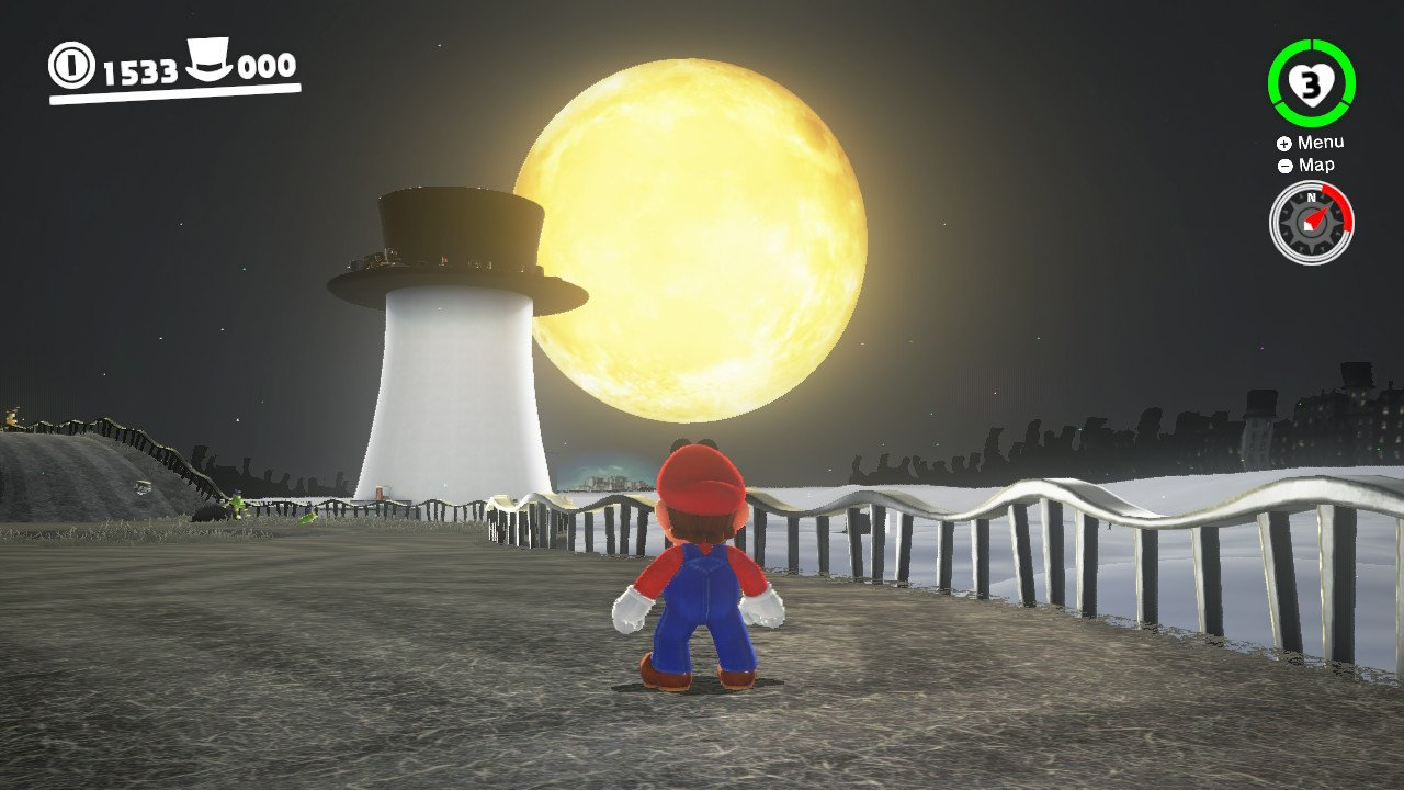 The gigantic Moon from the Cap Kingdom