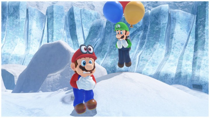Mario and Luigi are freezing in the Snow Kingdom