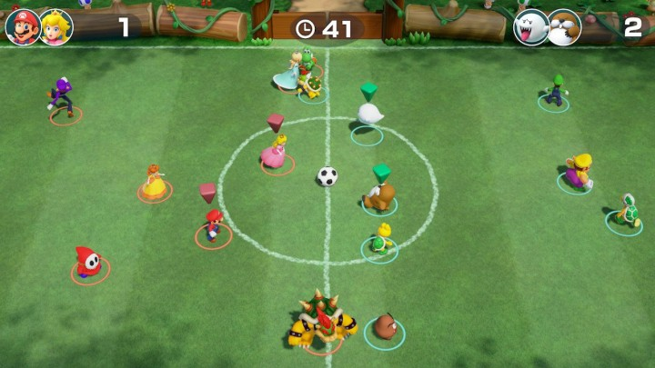 Just for Kicks soccer mini-game - Super Mario Party for Nintendo Switch