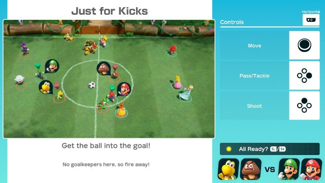 Super Mario Party Just for Kicks Soccer Controls