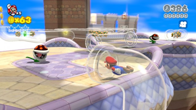 Super Mario 3D World - navigating the clear pipes