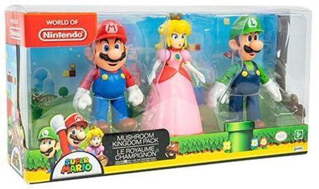 World of Nintendo Mushroom Kingdom Pack featuring Mario, Luigi and Peach