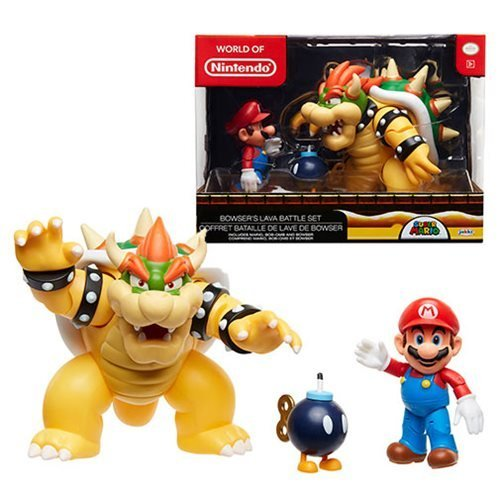 World of Nintendo Bowser's Lava Battle Set